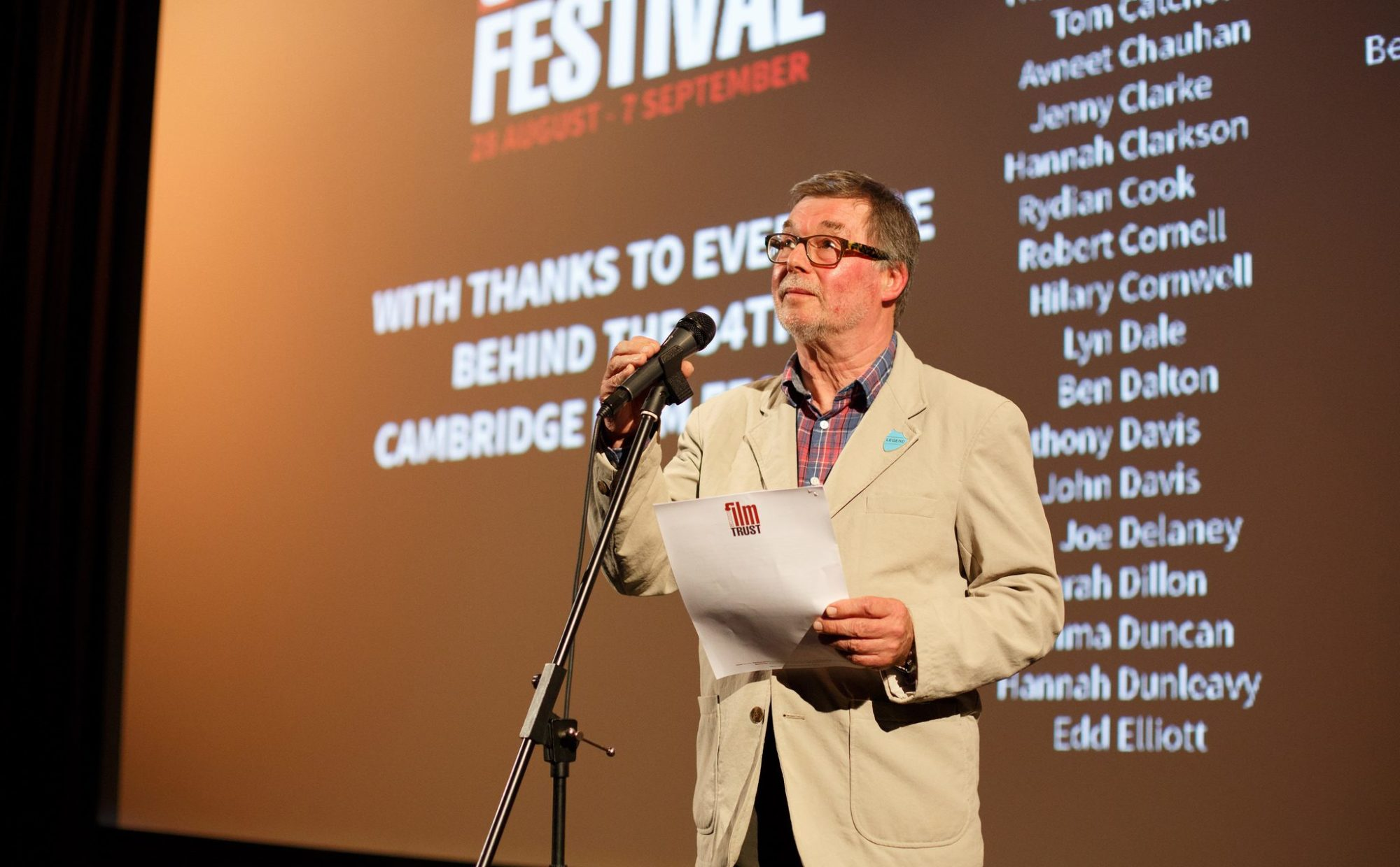 Cambridge Film Festival speech