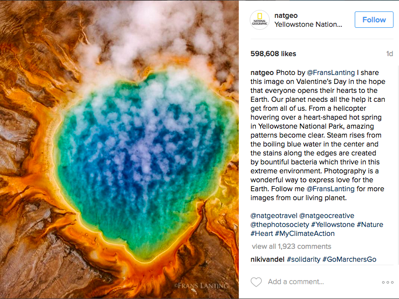 Image of yellowstone national park by national geographic