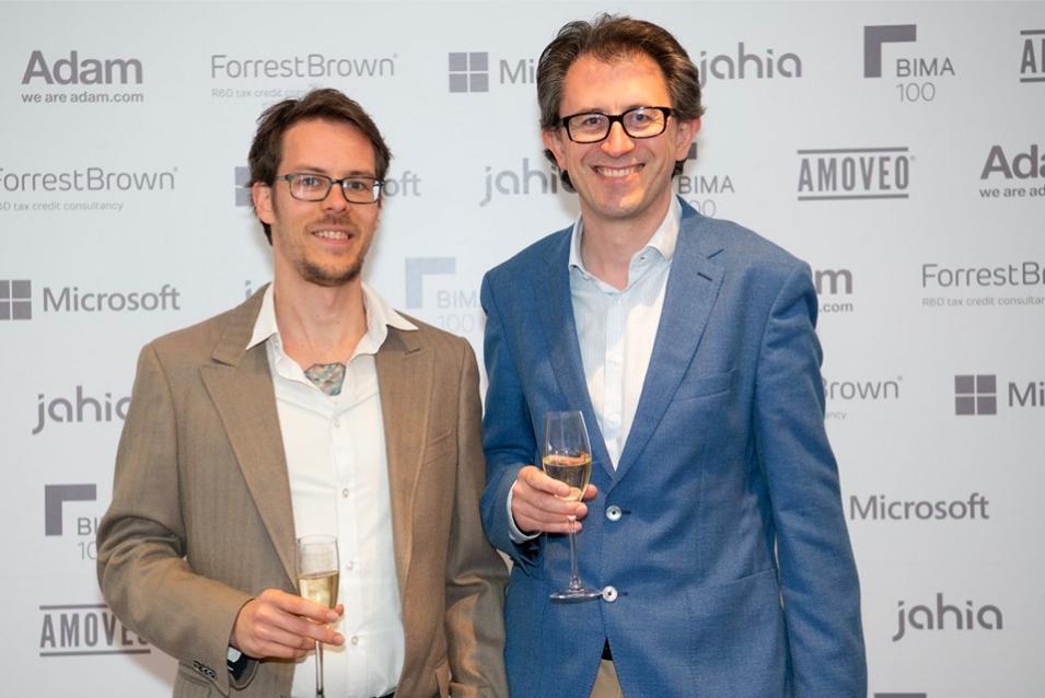 Carlos Eriksson and Simon Jones at the BIMA 100 ceremony