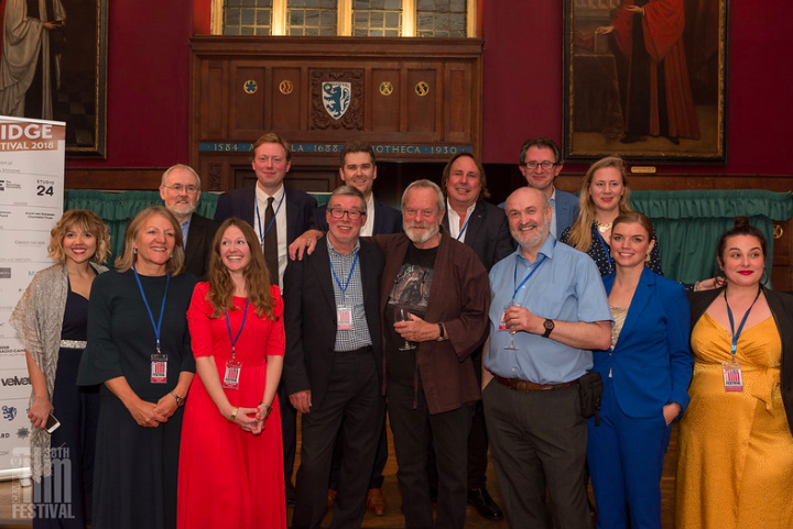 Terry Gilliam with the Cambridge Film Trust at the 2018 Cambridge Film Festival